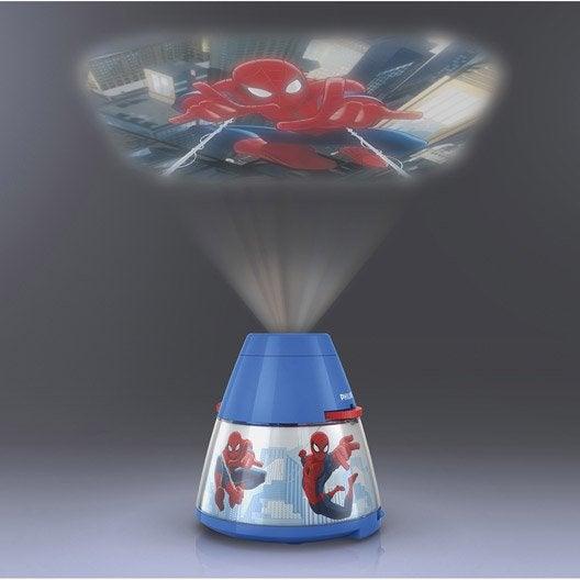 Objet lumineux, led intégrée Spiderman PHILIPS, synthétique multicolore, 0.3 W
