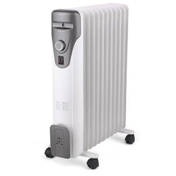 radiateur bain d'huile - chauffage d'appoint électrique | leroy merlin
