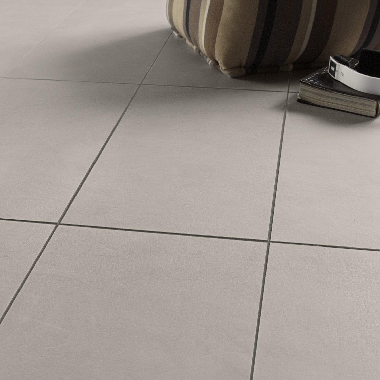 Carrelage sol et mur alu mat effet b ton studio x l for Carrelage blanc mat 30x60