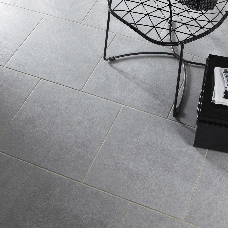carrelage sol et mur gris effet b ton factory x cm leroy merlin On carrelage 45 45