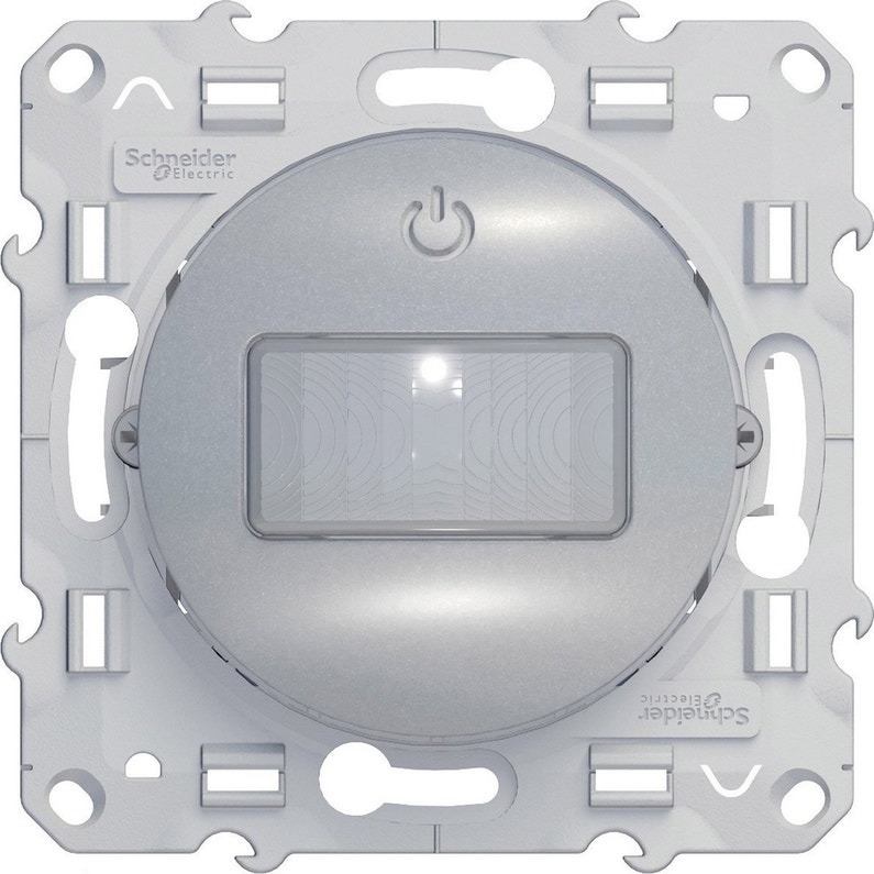 Interrupteur Automatique Complet Schneider Electric Odace Gris Aluminium