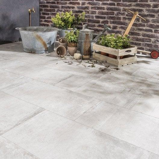 Carrelage sol gris effet béton Cardiff l.30 x L.60.4 cm