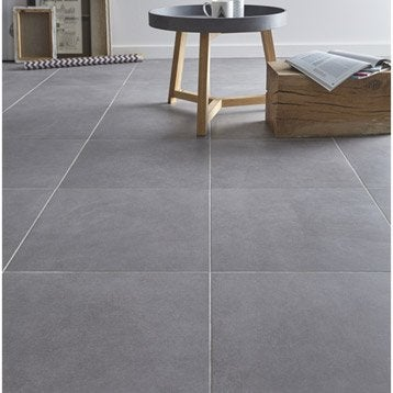 Carrelage int rieur sol et mural leroy merlin for Carrelage sol gris clair