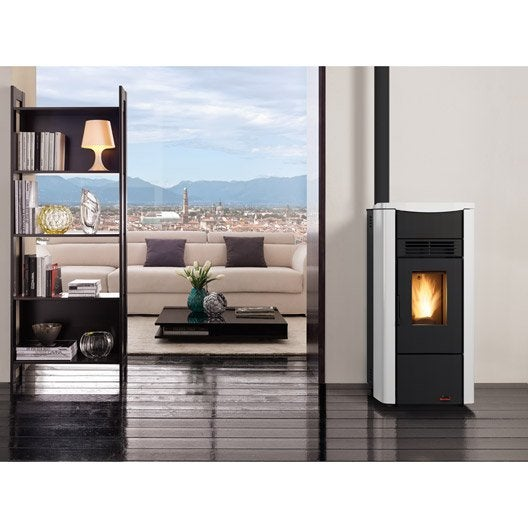 po le granul s extraflame giusy plus blanc 8 kw leroy. Black Bedroom Furniture Sets. Home Design Ideas