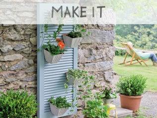 Transformer un volet en jardinière