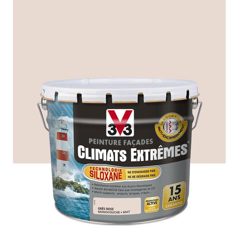 Peinture Façade Climat Extreme V33 Gris Rose 10 L