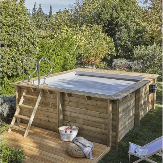 piscine hors sol bois urbaine proswell l 3 5 x l 4 2 x h. Black Bedroom Furniture Sets. Home Design Ideas