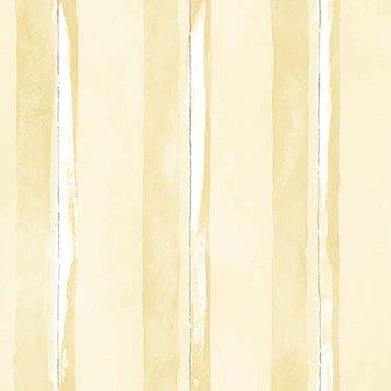 Papier peint intissé jaune/argent