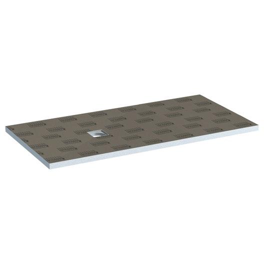 Receveur de douche à carreler rectangulaire L.180 x l.90 cm, LUX ...