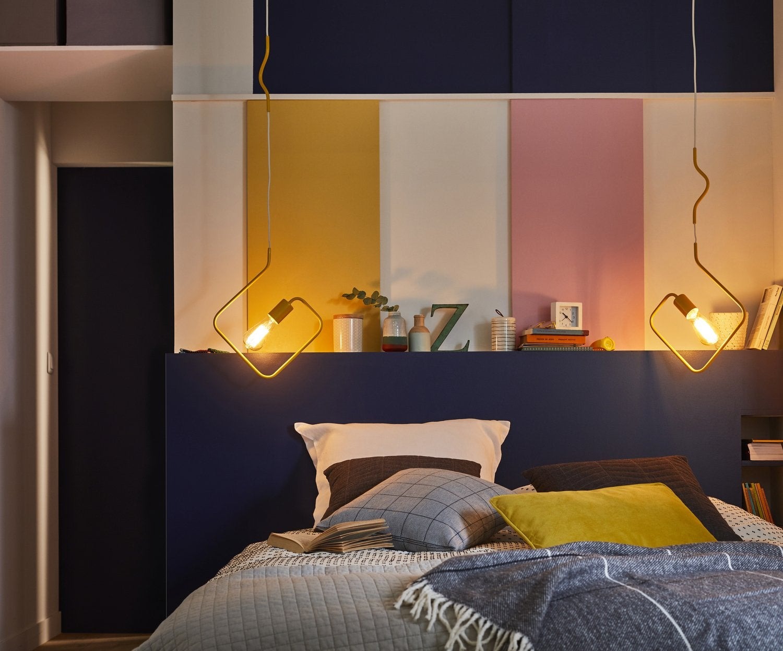 Eclairage artificiel dans une chambre multicolore   Leroy Merlin