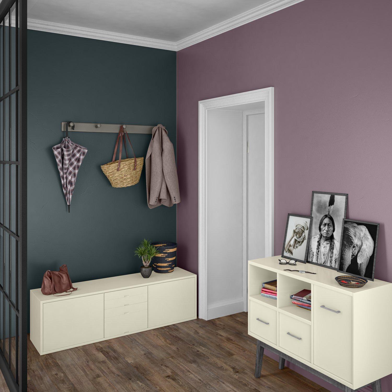 Entrée minimaliste rose et bleu encre   Leroy Merlin
