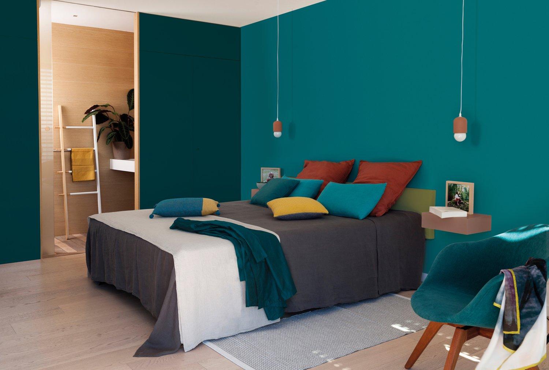 chambre pour adulte int gralement garnie de bleu leroy merlin. Black Bedroom Furniture Sets. Home Design Ideas