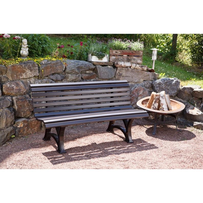 Strange Banc De Jardin En Resine Blome Helgoland 2 3 Personnes Marron Ocoug Best Dining Table And Chair Ideas Images Ocougorg