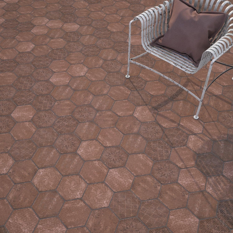 Carrelage Hexagonale Avec Motifs Leroy Merlin