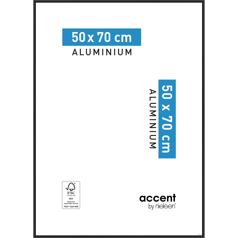 Cadre Accent, 50 x 70 cm, noir