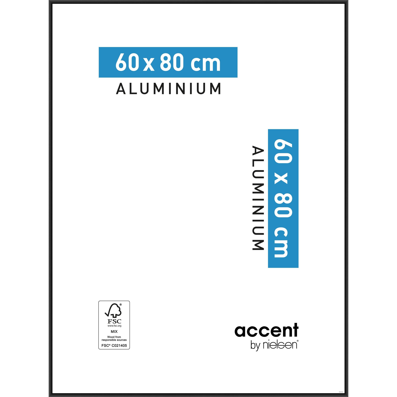 Cadre Accent, 60 x 80 cm, noir