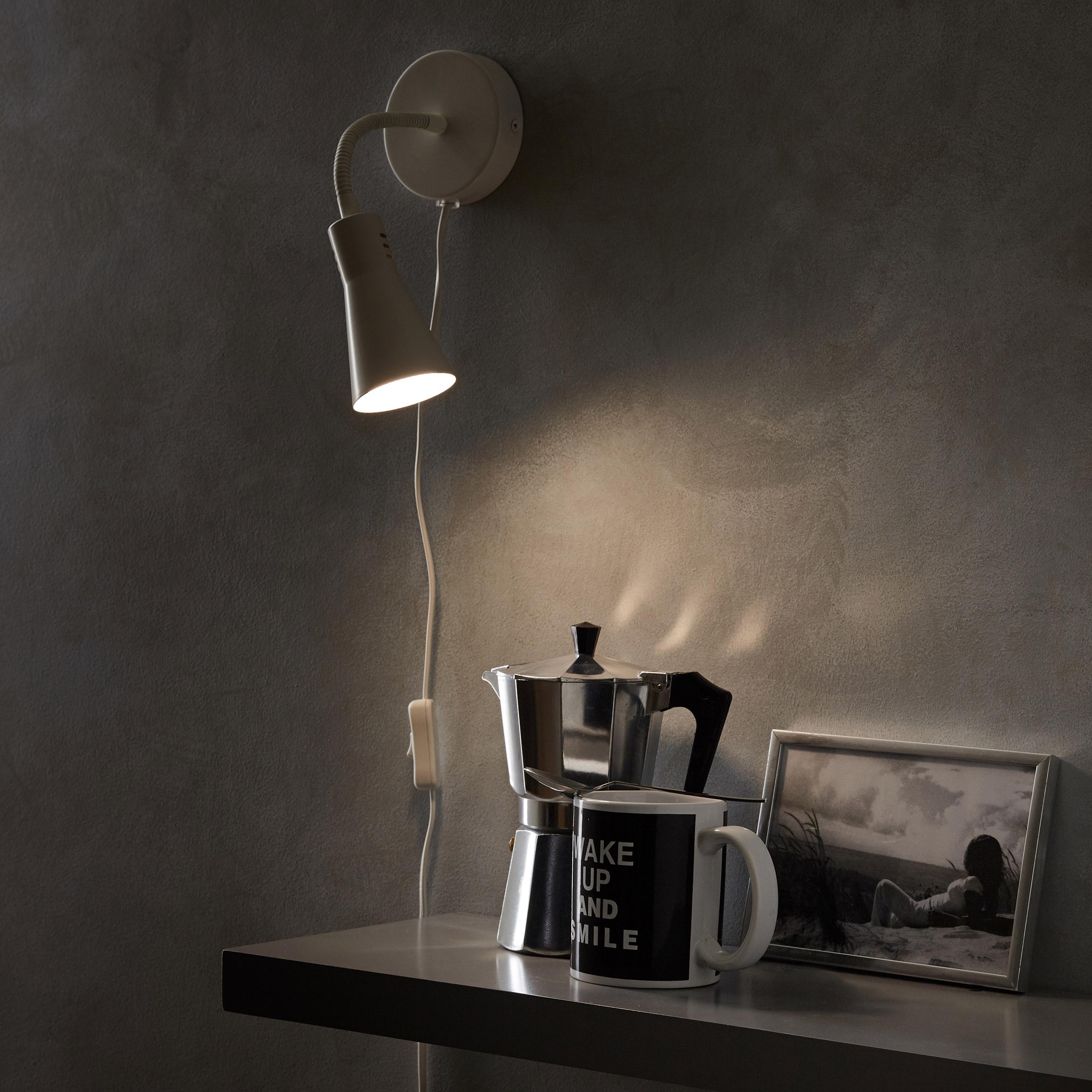 Applique, pop métal blanc INSPIRE Skit 1 lumière(s)