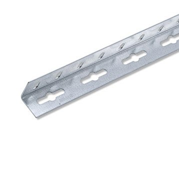 Cornière égale acier zingué, L.1 m x l.2.35 cm x H.2.35 cm
