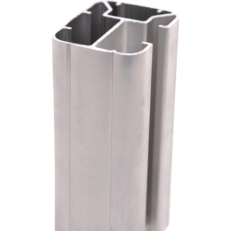 poteau aluminium en h gris x l 5 x p 6 5 cm leroy merlin. Black Bedroom Furniture Sets. Home Design Ideas