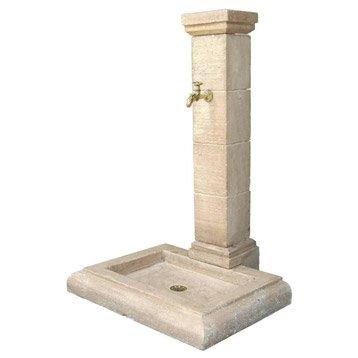 Fontaine de jardin en pierre reconstituée pierre vieillie Borne