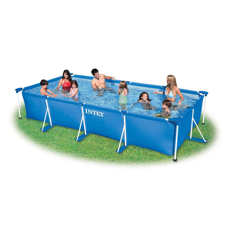 piscine hors sol autoportante tubulaire metal frame intex l leroy merlin. Black Bedroom Furniture Sets. Home Design Ideas
