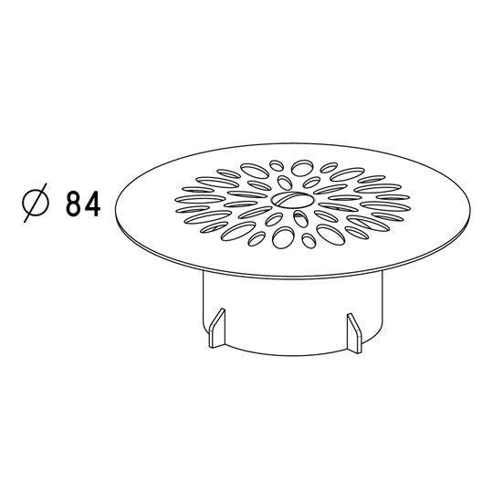 grille cloche pour bonde de douche leroy merlin. Black Bedroom Furniture Sets. Home Design Ideas