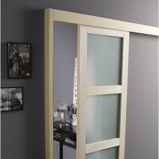 Rail coulissant et habillage Jazz ARTENS, pour porte de largeur 93 cm