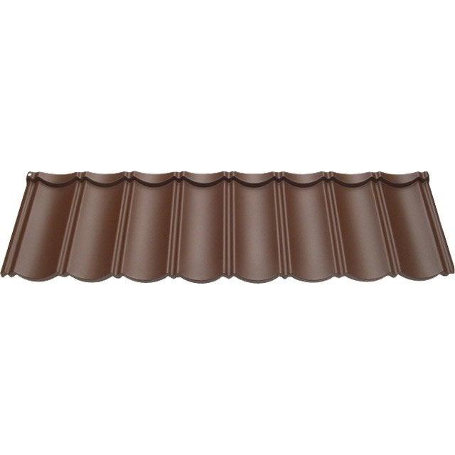 Plaque de toiture imitation tuile bitume marron l.1.47 x L.0.41 m FIRST PLAST | Leroy Merlin