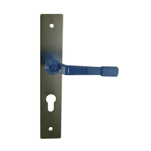 Poign e de porte vannes trou de cylindre aluminium poxy for Porte de garage vannes