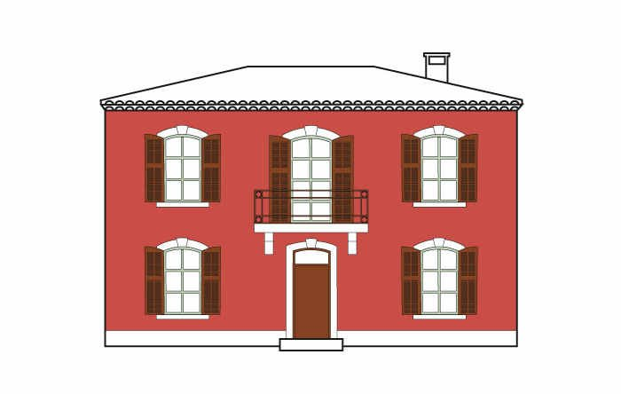Faade provence with simulateur couleur facade maison for Couleur facade maison simulation