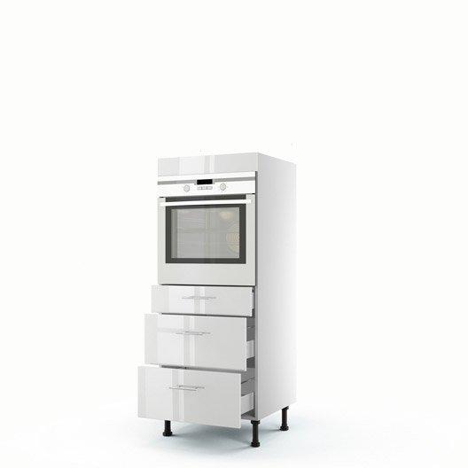 meuble de cuisine demi colonne blanc four 3 tiroirs rio. Black Bedroom Furniture Sets. Home Design Ideas