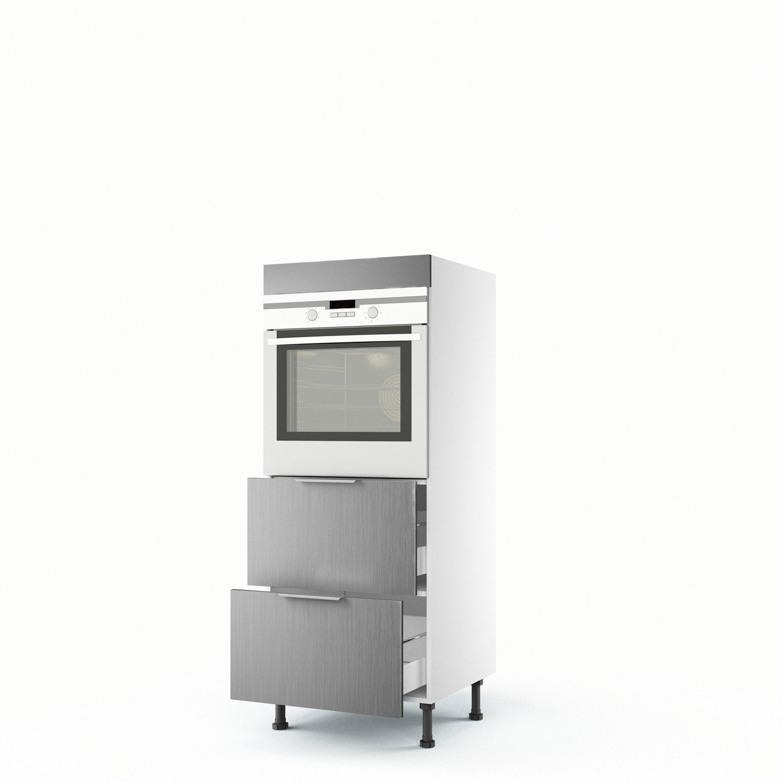 demi colonne d cor aluminium four 2 tiroirs stil x x cm leroy merlin. Black Bedroom Furniture Sets. Home Design Ideas