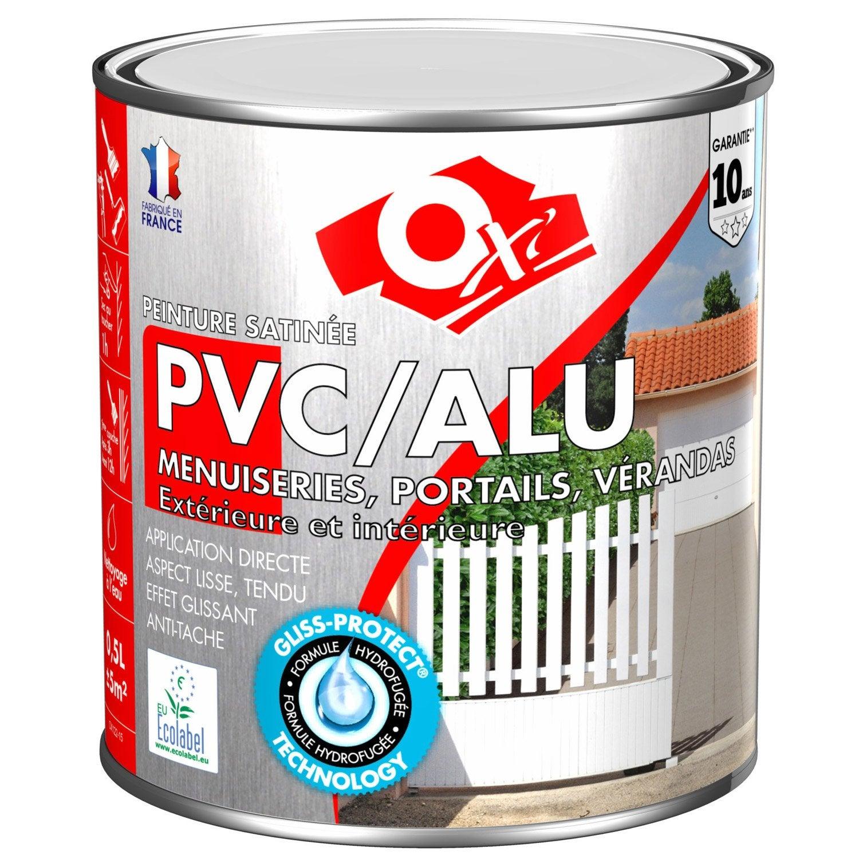 Peinture PVC / Aluminium / Galva Extérieur Oxy OXYTOL, Blanc, 0.5 L