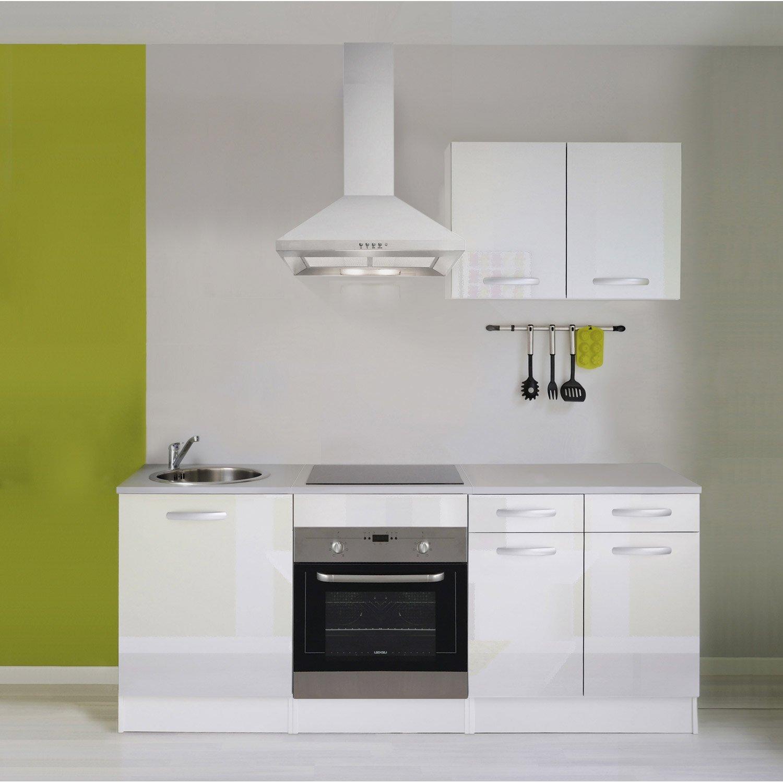 meuble de cuisine blanc brillant | leroy merlin