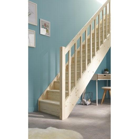 escalier droit deva marches structure bois massif sapin. Black Bedroom Furniture Sets. Home Design Ideas