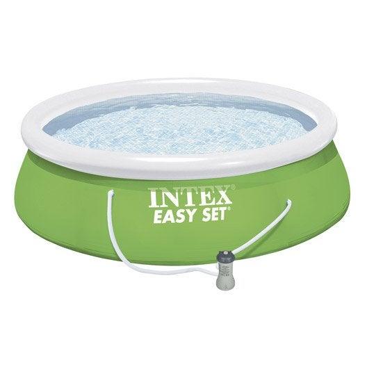 Piscine hors-sol autoportante gonflable Easy set INTEX, Diam.3.66 x H.0.84 m