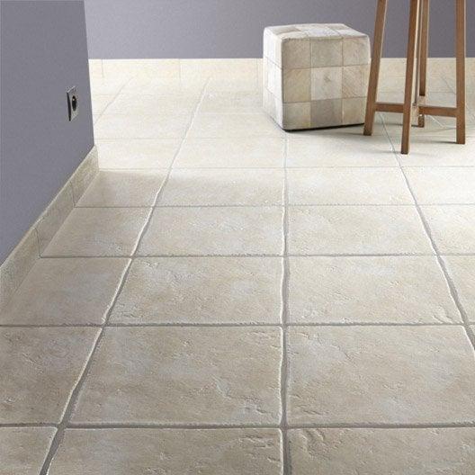Carrelage sol et mur beige effet pierre calacatta x l for Joint carrelage sol