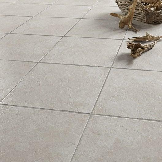 Carrelage sol et mur gris effet pierre calacatta x cm leroy m - Peut on peindre du carrelage au sol ...