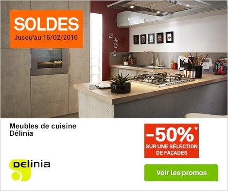Meuble de cuisine cuisine leroy merlin for Cuisine 3d delinia