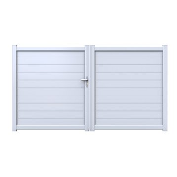 Portail bois alu fer portail portillon et for Portillon plastique