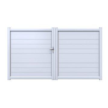 Portail portail aluminium bois fer pvc battant for Portail en plastique