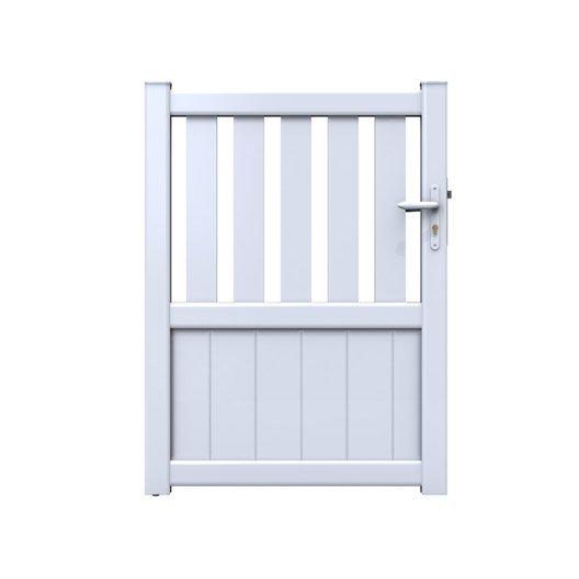 portillon battant naterial zoe x cm blanc. Black Bedroom Furniture Sets. Home Design Ideas