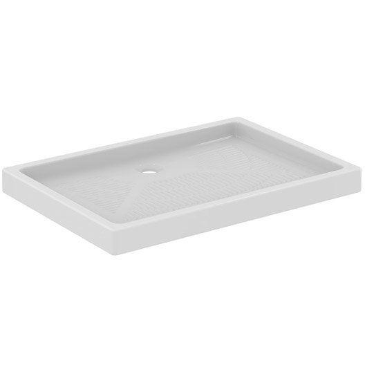 receveur de douche rectangulaire x cm gr s blanc primo leroy merlin. Black Bedroom Furniture Sets. Home Design Ideas