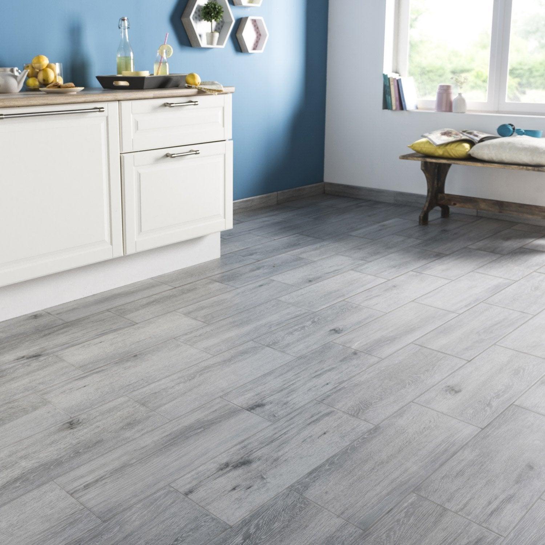 Carrelage Effet Parquet Gris concernant carrelage sol et mur gris effet bois acadie l.17.5 x l.50 cm