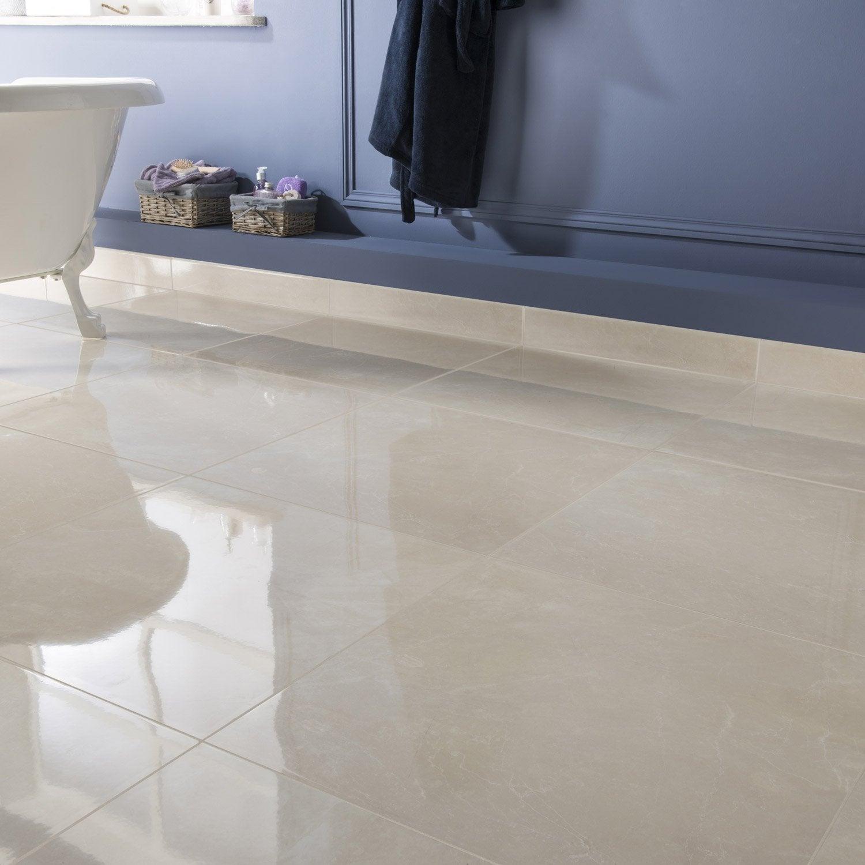 carrelage sol et mur creme effet marbre trieste x cm leroy merlin. Black Bedroom Furniture Sets. Home Design Ideas