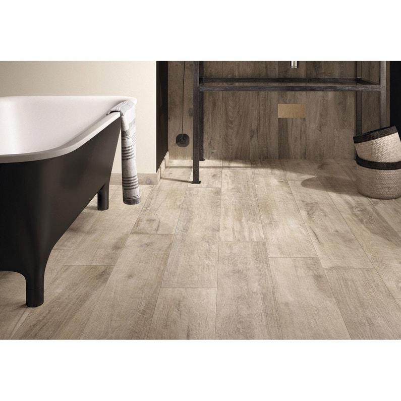carrelage sol et mur gris aspect bois x cm. Black Bedroom Furniture Sets. Home Design Ideas