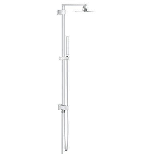 Colonne de douche et bain sans robinetterie grohe euphoria cube 152 leroy - Colonne douche sans robinetterie ...