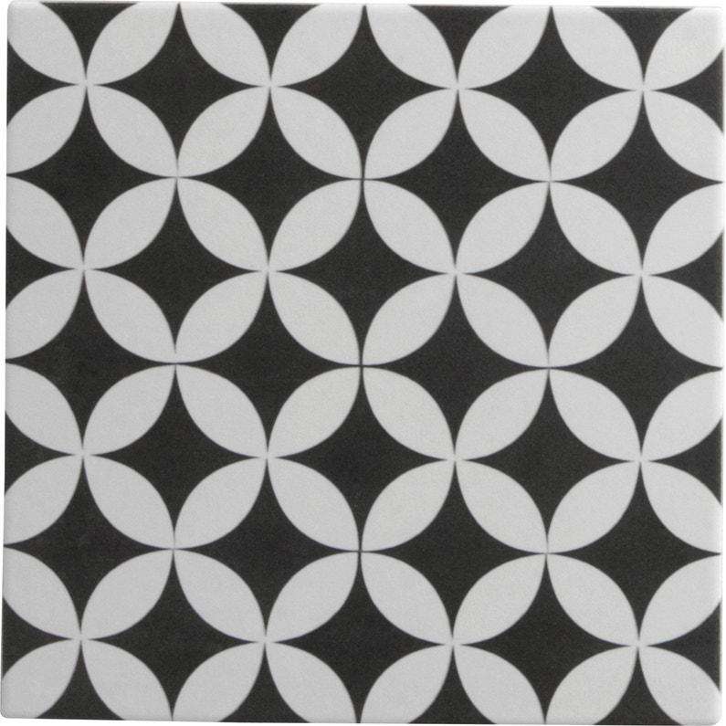 Carrelage Sol Et Mur Noir Et Blanc Effet Ciment Gatsby Corolle L 20