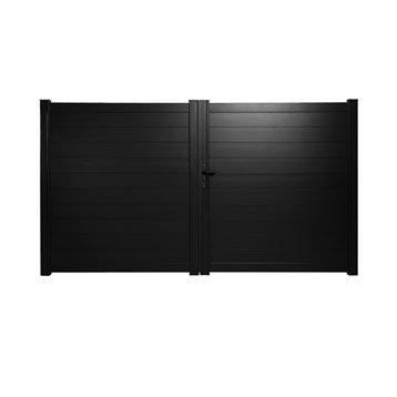 portail portail aluminium bois fer pvc battant coulissant au meilleur prix leroy merlin. Black Bedroom Furniture Sets. Home Design Ideas