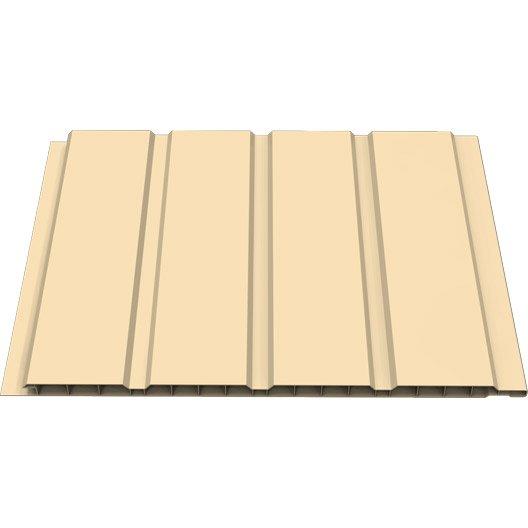 Sous face de bandeau de rive sable pvc l 3 m x for Planche pvc exterieur